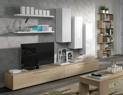 Mueble salon moderno roble blanco