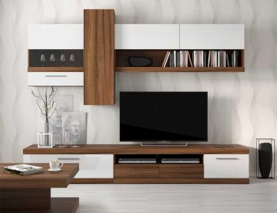 Mueble salon moderno roble veteado