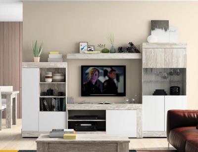 Mueble salon moderno vintage leds