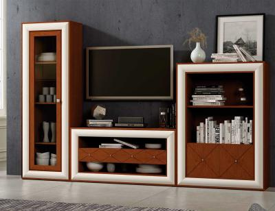 Mueble salon neoclasico cerezo blanco roto