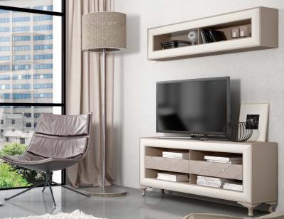 Mueble salon neoclasico romantico piedra blanco roto 21