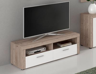 Mueble tv mesa nelson blanco brillo