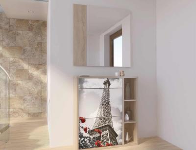 Recibidor espejo zapatero paris