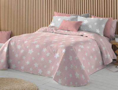 Ropa cama chester rosa estrella