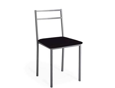 Silla cocina asiento polipiel negro 256