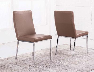 Pack de sillas con sistema amortiguaci n y respaldo alto for Sillas comedor cromadas