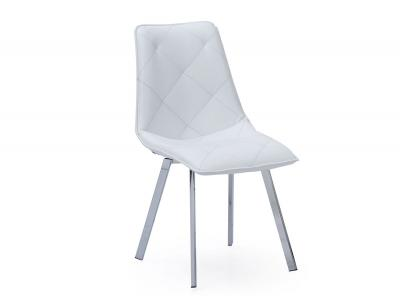Silla comedor simil blanco diamond