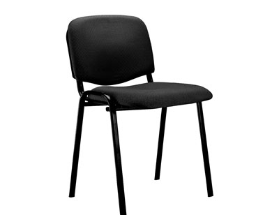 Silla confidente apilable negro