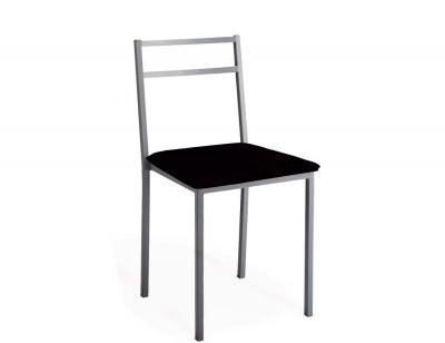 Taburete de cocina con asiento en polipiel 3543 for Sillas cocina negras
