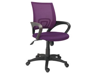 Silla estudiante  pc apoya brazos 3d violeta