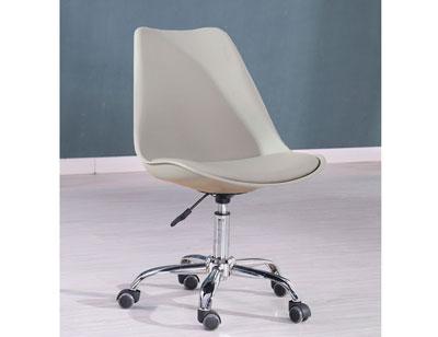 Silla oficina despacho elevable ruedas gris