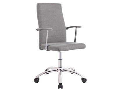 Silla oficina despecho elevable altura apoya brazos gris ceniza ruedas