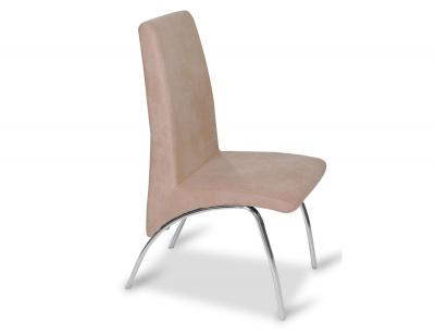 Juego de 4 sillas con respaldo y asiento tapizado en gris for Sillas tapizadas baratas
