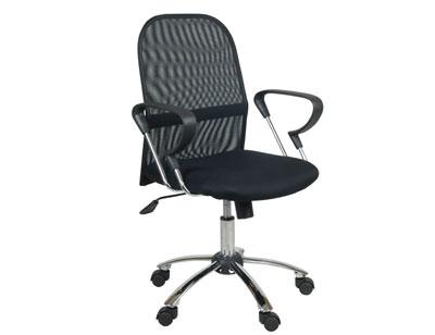 Sillon oficina despacho tapizada respaldo 3d apoya brazos negra ruedas