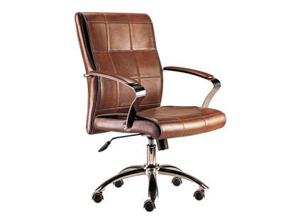 Sillon oficina despacho tapizada respaldo alto apoya brazos cuero ruedas