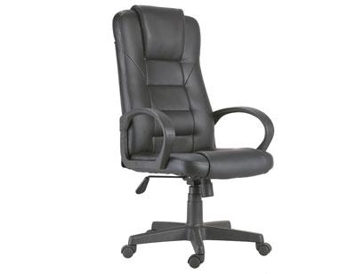 Sillon oficina despacho tapizada respaldo alto apoya brazos negra 2