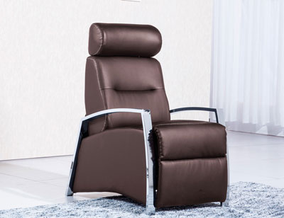 Sillon relax simil piel chocolate