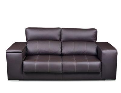Sofa 3 plazas polipiel arcon taburete 1