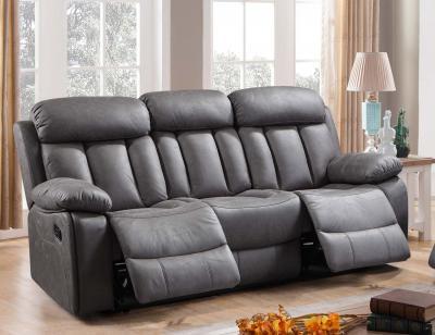 Sof relax con tres asientos con muelles ensacados 19529 - Sofa gris marengo ...