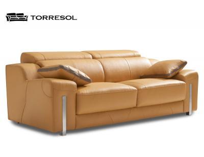 Sofa alborada torresol piel mostaza 2