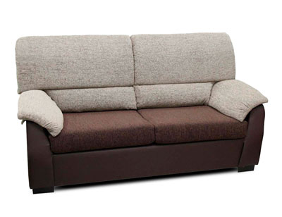 Sofa barato 3 plazas chocolate turron
