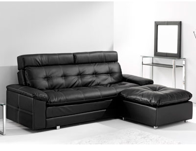 Sofa cama chaiselongue polipiel pouf reversible 2