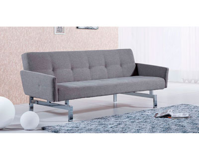 Sofa cama con brazos elegance ceniza