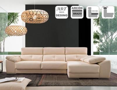 Sofa chaiselongue acomodel memory derecho detalle