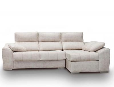 Sofa chaiselongue anti manchas beig blanco261