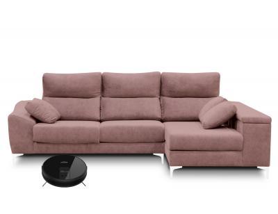 Sofa chaiselongue carrero con arcon salmon robot