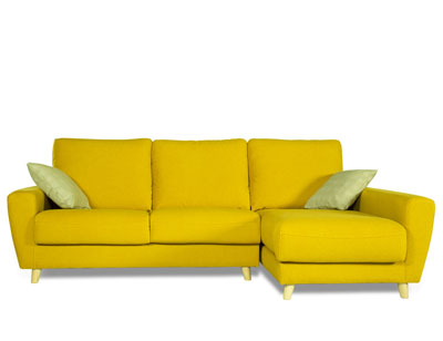 Sofa chaiselongue moderno amarillo 3