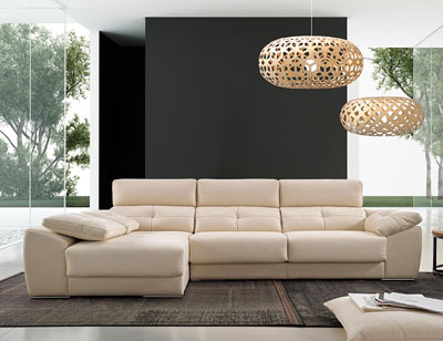 Sofa chaiselongue moderno chaiselongue losa arcon puf