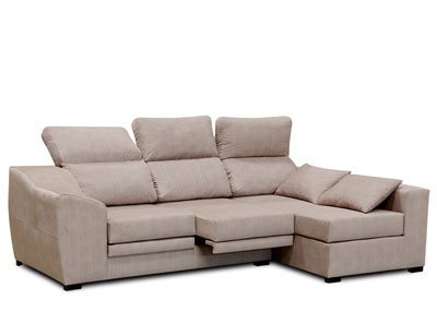 Sofa chaiselongue moderno cojin beig 3