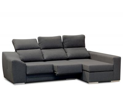 Sofa chaiselongue moderno negro 211