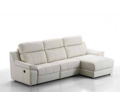 Sofa chaiselongue piel relax electrico