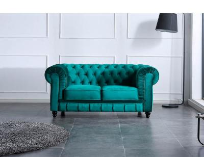 Sofa chesterfield 2 plazas verde