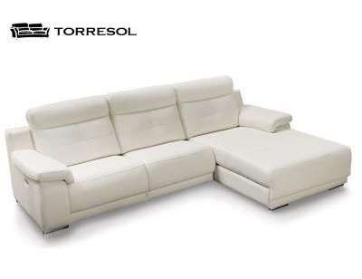 Sofa libi torresol en piel blanco
