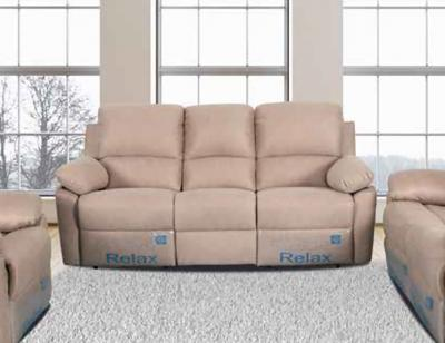 Sofa polipiel 3 plazas camel