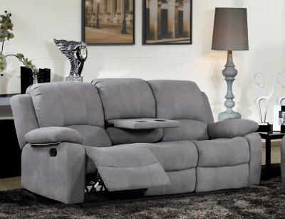 Sofa relax bandeja copas auxiliar 3 plazas palanca